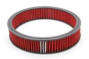 Edelbrock Air Filter Element Red 14in X 3in P n 43666