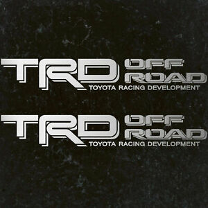1995 2004 Toyota Silver Trd Off Road Tacoma Tundra Decal Sticker Vinyl Set