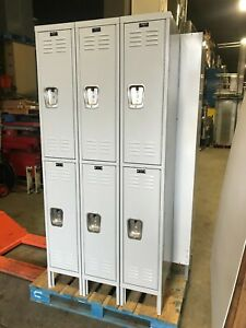 Hallowell 6 Doors Employee Lockers 18 d