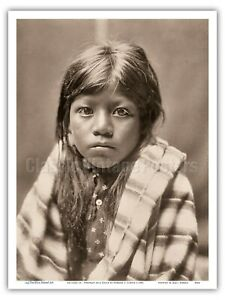 Ah Chee Lo Portrait of a Child - Edward Curtis Vintage Photograph Print $12.98