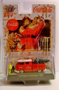 1959 '59 VW DOUBLE CAB TRUCK CHRISTMAS HOLIDAY COCA-COLA COKE M2 MACHINES 2019