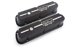 Edelbrock Valve Cover Kit Race Series Sbf Tall Black P N 41653