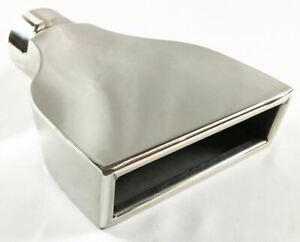 Exhaust Tip 6 00 X 2 25 Outlet 9 00 Long 2 50 Inlet Rolled Slant Rectangle St