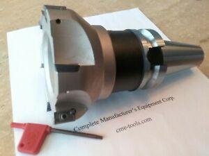4 90 Degree Indexable Face Shell Mill face Milling Cutter Apkt W Bt40 Arbor