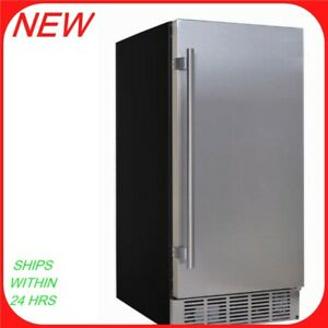 Edgestar Ib250 15 w 25 Lb Per Day Built in Under Counter Ice Maker