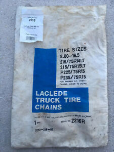Laclede 2216r Truck Tire Chain Highway Service 215 225 235 75 R14 15 Lt 8 16 5