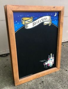 Bella Sera Double Sided Wood Menu Board Large Bar Man Cave Italian Table Wine