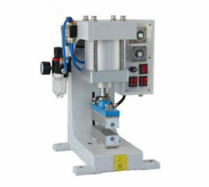 Pneumatic Hot Foil Stamping Machine Logo Leather Wood Automatic Stamper 220v