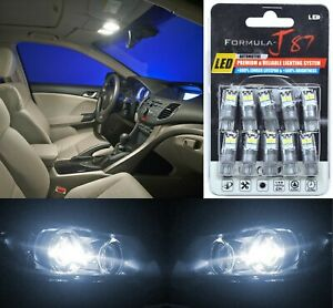 Led 3030 Light White 5000k 194 Ten Bulbs License Plate Replacement Fit Philips