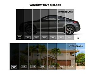 Window Film Roll Tint 2 Ply 60 x 25 Ft 5 15 20 35 50 Intersolar