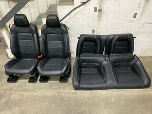 2015 2017 Ford Mustang Gt 50th Ann Black Leather Front Rear Seats Oem