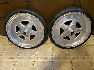 2 Weld Racing Draglite 22x2 5x17 Anglia Spindle Mount Wheels Dragster Gasser