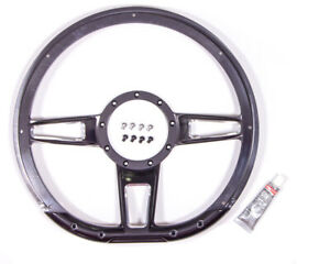 Billet Specialties Steering Wheel Formula D shaped 14in Contrast P n Bc29409