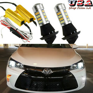 Led Swtichback Daytime Running Turn Signal Light Drl For Toyota Camry 2015 2020