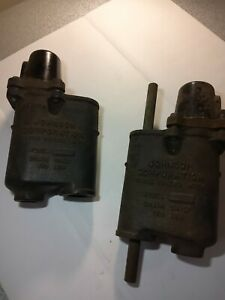 Lot Of 2 Vintage Steampunk Steam Traps Would Make Great Lamps Or Other