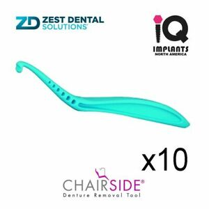 Zest Chairside Essential Denture Removal Tool 10 pack