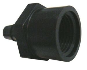 100 1 4 Npt Female X 1 4 Hose barb Straight Adapter Fitting Black Poly