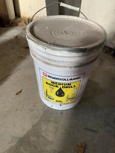 Ingersol Rand Rock Drill Oil 5 Gallon Bucket Air Tool Pneumatic