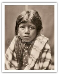 Ah Chee Lo Portrait of a Child - Edward Curtis Vintage Photograph Art Print $199.98