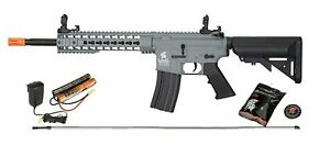 Lancer Tactical M4 Keymod AEG Carbine Metal Gears Airsoft Gun Rifle 9.6v Gray $164.95