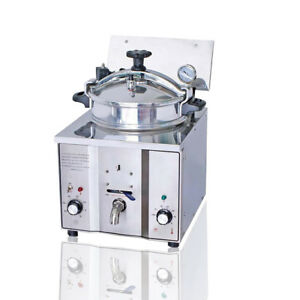 Commercial Electric Pressure Fryer Fish Chicken Meat Vegetable Chips
