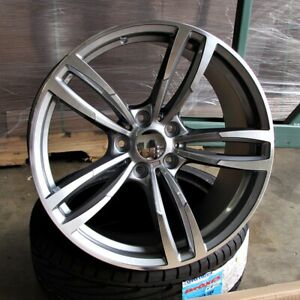 Bmw M3 M4 Style 19x8 5 9 5 5x120 Et35 37 Gunmetal Machined Face Staggered Wheel