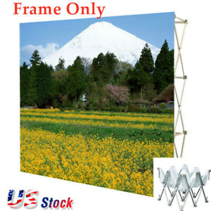 Us 10ft Tension Fabric Pop Up Display Backdrop Stand Trade Show Exhibition Frame