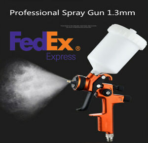Professional Hvlp Spray Gun 1 3 Mm With 600ml Cup Auto Paint Sprayers