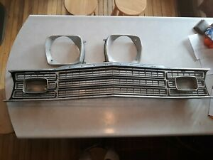 1973 1974 Plymouth Duster valiant scamp Oem Used Grille With Bezels G0021