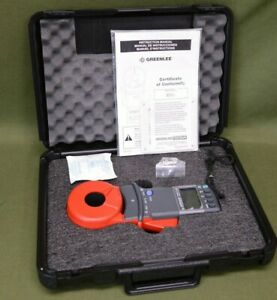 Greenlee Cmgrt 100 Clamp on Ground Resistance Tester With Hard Case Nib