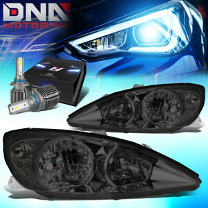 For 2002 2004 Camry Xv30 Replacement Headlight Lamps W led Kit cool Fan Smoked