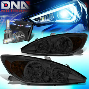 For 2002 2004 Camry Xv30 Oe Style Headlights W Led Kit Cool Fan Smoked Amber