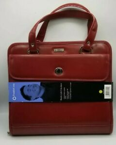 Franklin Covey Day Red Crossbody Day Planner Ring Binder Organizer Purse