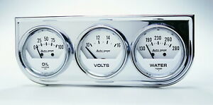 Auto Meter 2325 Gauge Oil Pressure Voltmeter Water Temperature