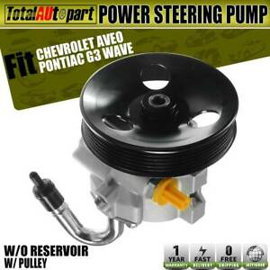 Power Steering Pump Aluminum W Pulley For Chevy Aveo Aveo5 Pontiac G3 Wave 20806