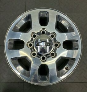 5502 Chevy 2500 3500 Polished 18 Factory Oem Alloy Wheel Set 2011 2019 9597733
