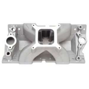 Edelbrock 2814 Super Victor Vortec Bowtie Intake Manifold For Chevy Small Block