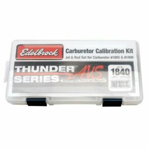 Edelbrock 1840 Thunder Avs Carburetor Calibration Kit For 1805 1806 Carbs