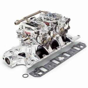 Edelbrock 20354 Rpm Dual Quad Manifold And Carb Kit For Ford Small Block 289 302