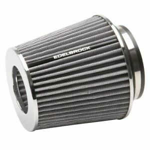 Edelbrock 43642 Pro flo Medium Conical Air Filter With 3 3 5 And 4 Inlet