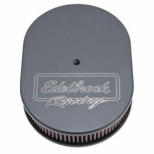 Edelbrock 42203 Victor Oval Air Cleaner 2 4 Cotton Element For Dual quads