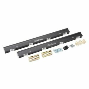 Edelbrock 3638 Fuel Injection Fuel Rail 6 An Black Anodized For Chevy Ls