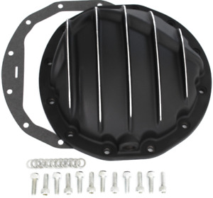 Black Chevy Car 12 Bolt Finned Aluminum Rear End Differential Cover 8 75
