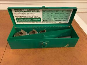 Greenlee 744 Slug Splitter Set 1 1 4 1 3 4 3 4 Draw Stud
