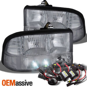 Fit 98 04 Gmc Sonoma Jimmy Oldsmobile Bravada Headlights Ballast 6k Hid