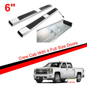 Running Boards Fit 99 18 Silverado sierra Crew Cab 83 Side Nerf Bars