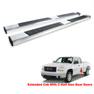 Side Step Nerf Bars For 99 18 Silverado sierra Ext double Cab Running Boards