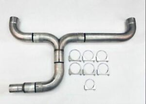 Diesel Dual 5 00 Diameter Truck Stack Exhaust Kit Stainless Wdpdk500 500 Ss Wesd