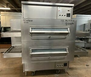 Middleby Marshall Ps360 Double Stack Natural Gas Electric Conveyor Pizza Ovens
