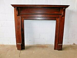 1900 S Antique Fireplace Mantel Surround Craftsman Mission Style Oak Ornate